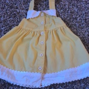 Gymboree yellow halter top dress, vintage vibes 🤗